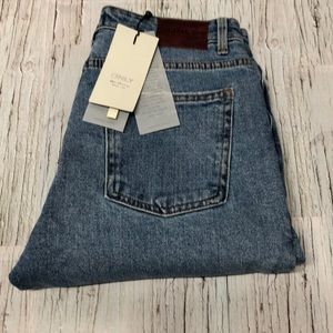 Only Raw Denim high rise jeans